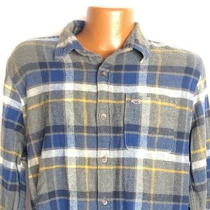 Hollister Plaid Flannel Long Sleeve Button Down